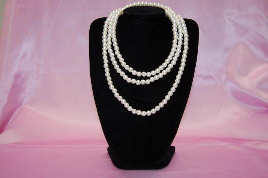 シンプルパール ホワイト ネックレス