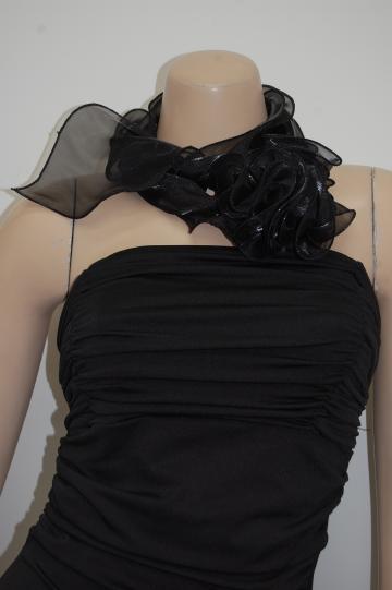 花セレブ ブラック ショール